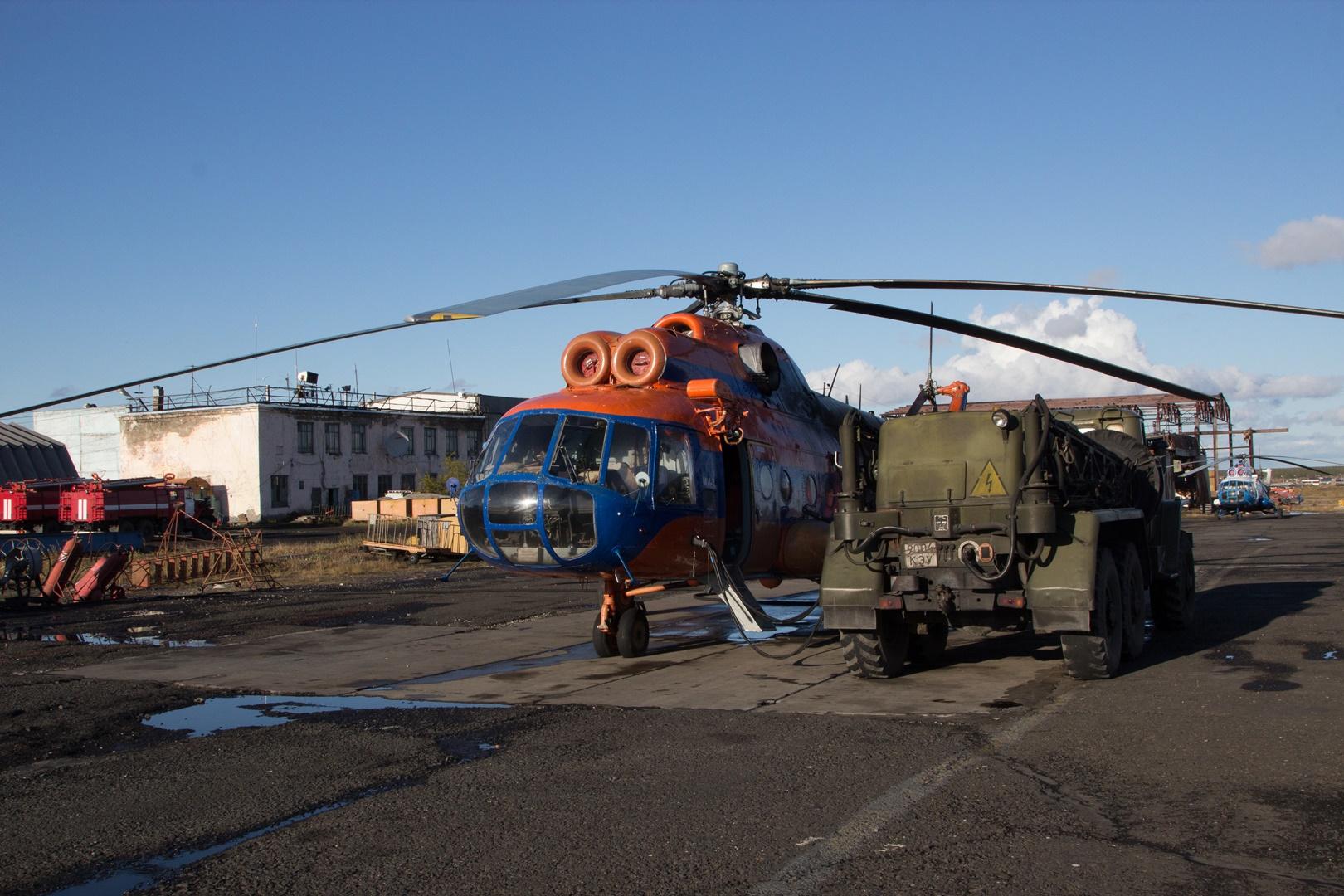 запуск вертолета
