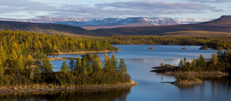 озеро на плато Путорана