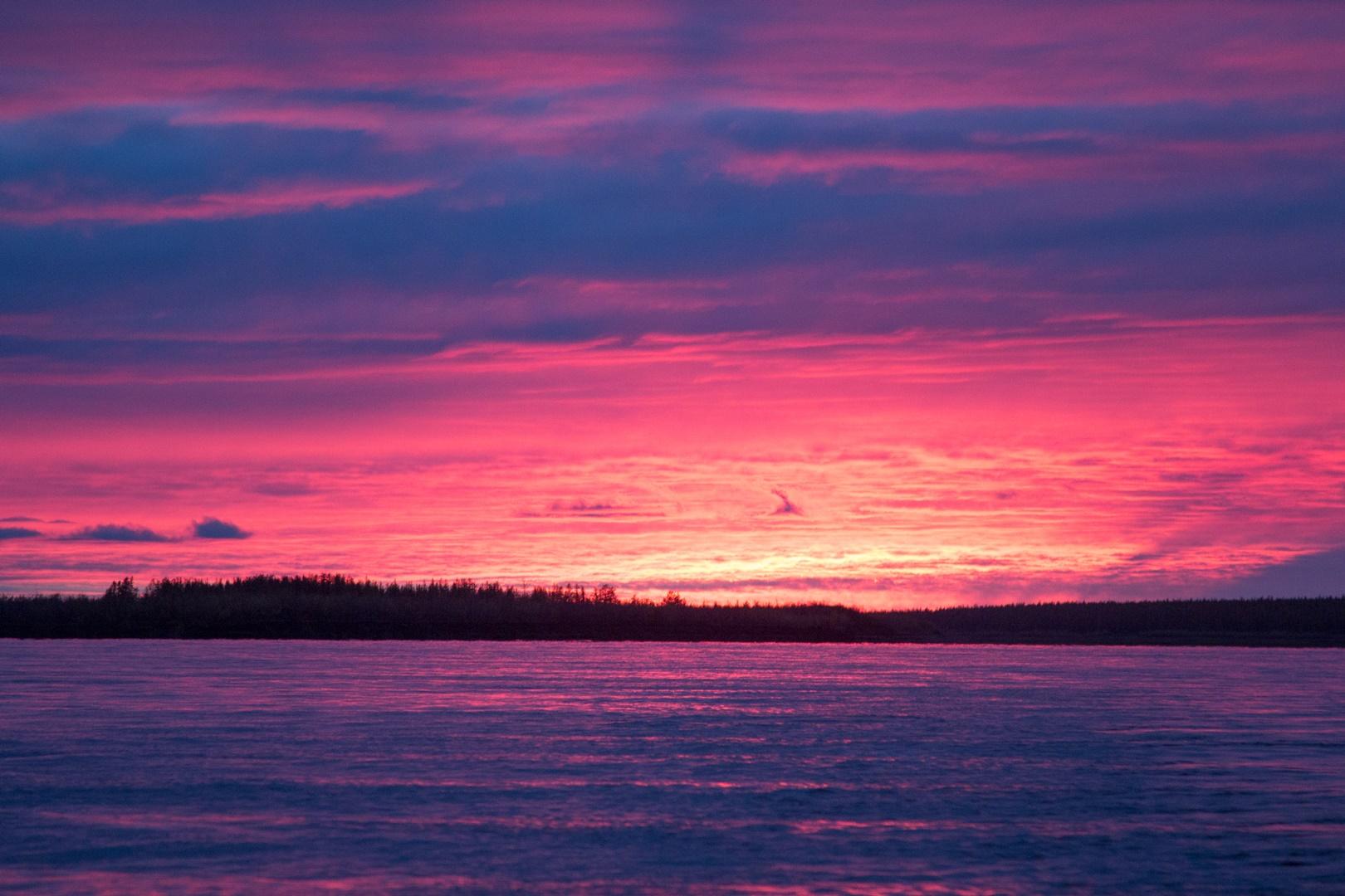 бордовый закат