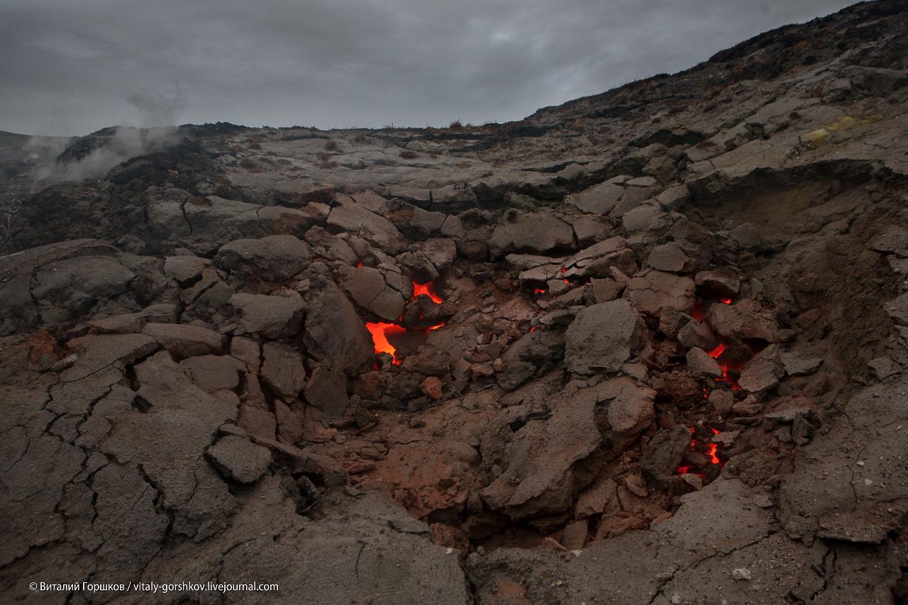очаг естественного горения каменного угля